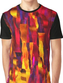Ripped Pieces on Fire - Abstract Expressionist Digital Painting Graphic T-Shirt