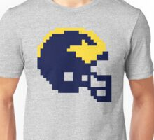 Michigan Wolverines 8-bit Football Helmet Unisex T-Shirt