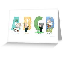 Science ABC Greeting Card