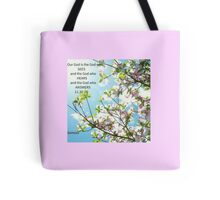 The God who Answers Tote Bag