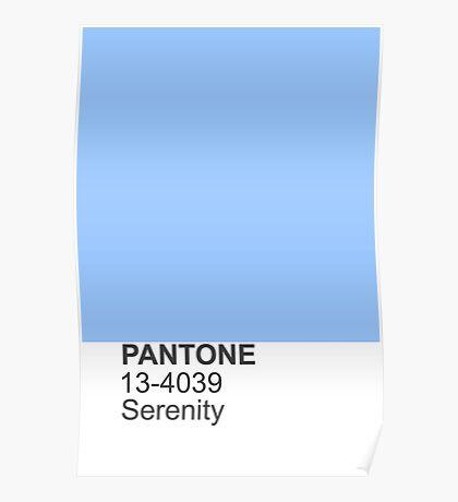 PANTONE serenity Poster