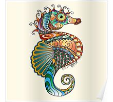 Colorful Seahorse Poster