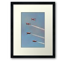 Red Arrows - Mirror Pass Framed Print
