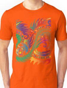 Rainbow Dragon in White Unisex T-Shirt