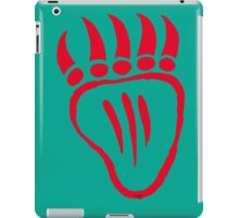 Native American Bear Foot Red iPad Case/Skin