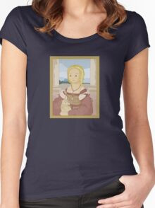 Lady with unicorn by Raphael Women's Fitted Scoop T-Shirt