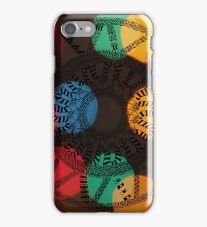 Circle Patterns v.3 iPhone Case/Skin