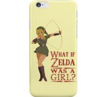 What if Zelda was a girl? (it's a joke) iPhone Case/Skin