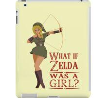 What if Zelda was a girl? (it's a joke) iPad Case/Skin