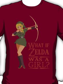 What if Zelda was a girl? (it's a joke) T-Shirt