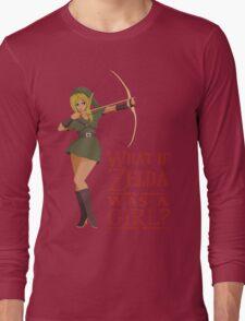 What if Zelda was a girl? (it's a joke) Long Sleeve T-Shirt