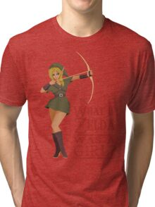 What if Zelda was a girl? (it's a joke) Tri-blend T-Shirt