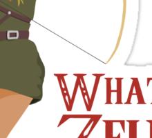 What if Zelda was a girl? (it's a joke) Sticker