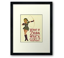 What if Zelda was a girl? (it's a joke) Framed Print