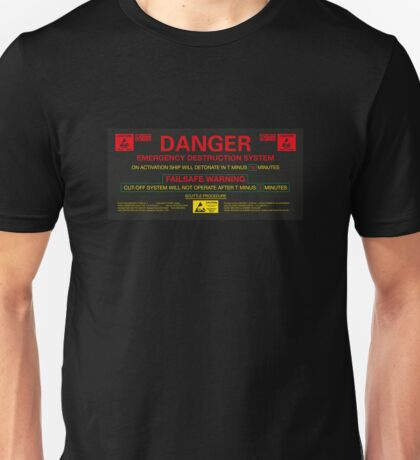 EMERGENCY DESTRUCTION SYSTEM Unisex T-Shirt