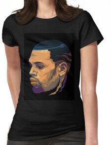 Chris Brown Womens Fitted T-Shirt