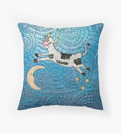 Cow Jumped Over the Moon 12-16 Throw Pillow