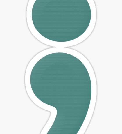 """""""semicolon 07"""" typography Sticker"""