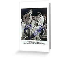 The Rolling Stones Autographed Greeting Card