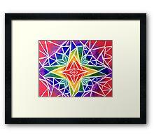 Rainbow Compass Rose Framed Print