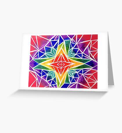 Rainbow Compass Rose Greeting Card