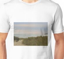 Afternoon setting sun at the beach in autumn Unisex T-Shirt