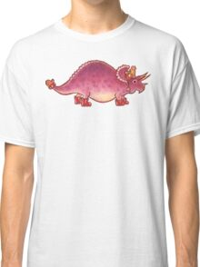 Pink Triceratops Derposaur with Wellies Classic T-Shirt