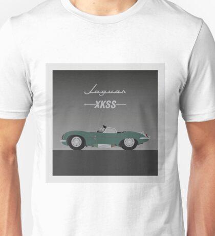 Jaguar XKSS Classic Sports Car Vector Graphic Unisex T-Shirt