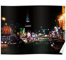Nashville at Night - Color Poster