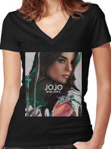 JOJO MAD LOVE COVER ALBUM Women's Fitted V-Neck T-Shirt