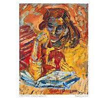 Girl Reading Photographic Print