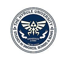 Hyrule University - Swords, Bombs & Bows Photographic Print