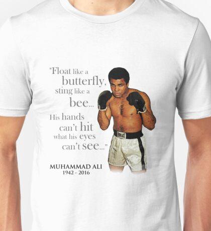 Muhammad Ali & Quote Unisex T-Shirt