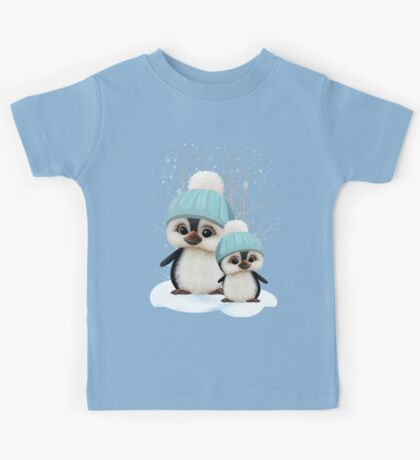 Cute Boy Penguins Kids Tee
