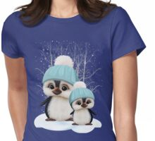 Cute Boy Penguins Womens Fitted T-Shirt