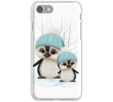 Cute Boy Penguins iPhone Case/Skin
