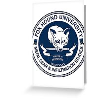 Fox Hound University - Metal Gear Studies Greeting Card
