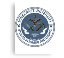 Minecraft University - Mining & Cubing Canvas Print