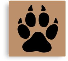 hunter footprint  ours bear chasseur Canvas Print