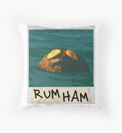 RUM HAM Throw Pillow