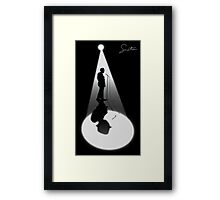 Frank Sinatra Silhouette Vector Graphic Framed Print