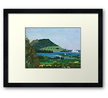 Mount Maunganui New Zealand, View From Te Puna Quarry Framed Print