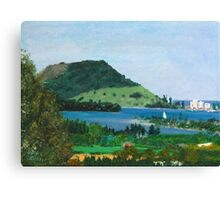 Mount Maunganui New Zealand, View From Te Puna Quarry Canvas Print