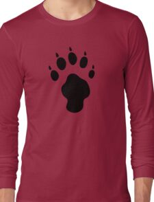 hunter footprint  tiger chasseur tigre Long Sleeve T-Shirt