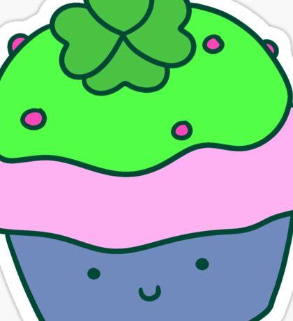 Lucky Cupcake Sticker