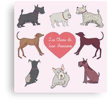 Cute Dogs of San Francisco Canvas Print