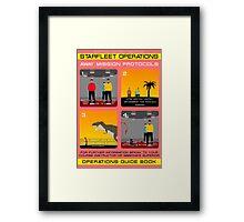 Star Trek - Operations Red Shirt Instructions Framed Print