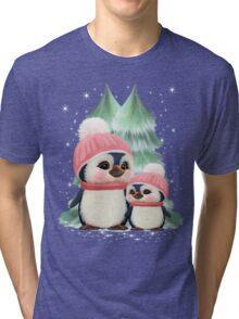Cute Little Girl Penguins Tri-blend T-Shirt