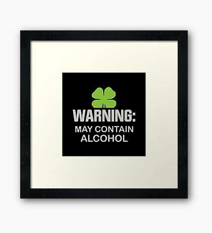 May Contain Alcohol Framed Print