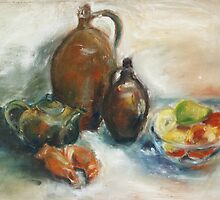 Still Life With Earthen Jugs by Barbara Pommerenke